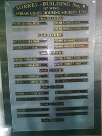 Aluminium Name Plate Fabricator