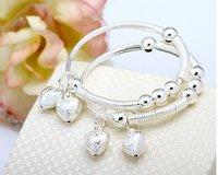 Personalized Heart Charm Baby Bracelet Bangles