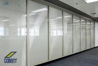Glass Partition with Blind