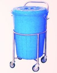 Soiled Linen Trolley With Plastic Bucket