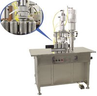 Qgbs-500 Series 3-In-1 Semi-Automatic Aerosol Filling Machine