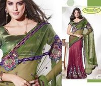 Two Color Fancy Saree