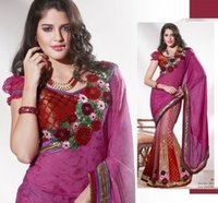Pink Color Fancy Saree