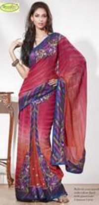Red Color Border Fancy Saree