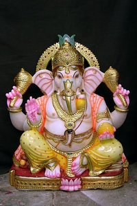Stone Ganesha Sculpture
