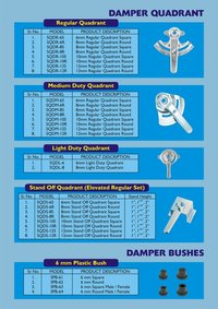 Duct Damper Quadrants