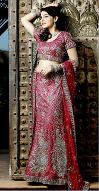 Aristocratic Diamantes Work Lehenga