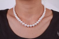 White Beaded Pearl Necklaces