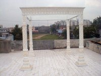 White Gold Can Mandap