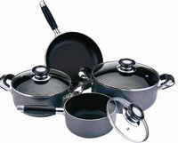 7 Pcs Non-Stick Hard Anodized Cookware Set