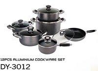 12 Pcs Aluminum Non-Stick Cookware Set
