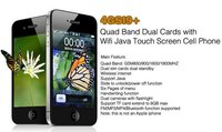 4GSI9+ Quad Band Dual Cards with Wifi Java Touch Screen Phone
