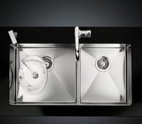 Kitchen Under Mounted Stainless Steel Sink With Double Bowls (LS201)
