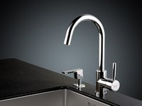 Hot-Cold Water Rotatable Kitchen Sink Faucet (L8015)