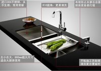 Kitchen Undermounted SUS304 Stainless Steel Double Sink (S202)