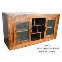 2 Glass Door Side Board