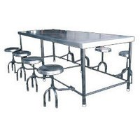 Ss Canteen Table With Stools