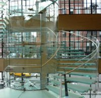 Stair Case Bend Glass