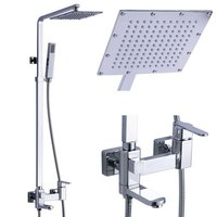 Square Design Rainfall Bath Shower Faucet 1806