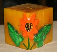 Sunflower Square Candle (C35)