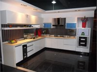 PU Lacquer Kitchen Cabinet