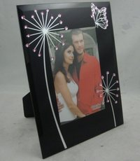 Glass Mirrored Photo Frame