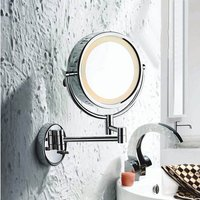 LED Lighted Wall Mounted Magnifying Shaving Mirror