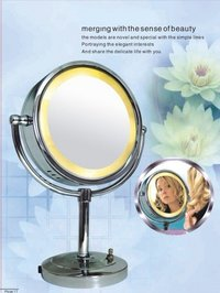 LED Lighted Magnified Vanity Table Mirror