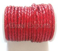 Red Braided Leather Cords