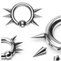 316l Surgical Steel Easy Snap-In Captive Beads