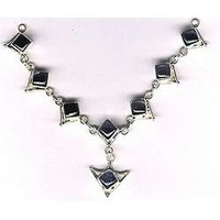 Black Stone Silver Necklace