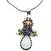 Multi Colored Silver Necklace