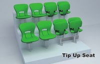 Avant Public Permanent Foxed Tip-Up Stadium Chair