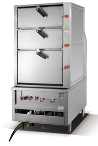 3 Compartment Gas Steaming Cabinet