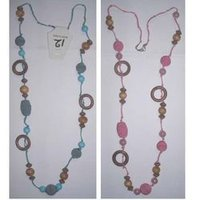 Pink-Turq Bead Necklace