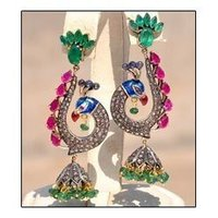 Victorian Peacock Earrings