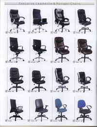 Leather Revolving Manager Chairs