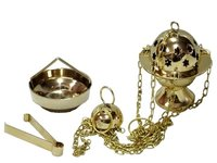 Brass Chain Incense Burner