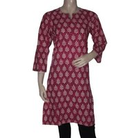 Block Print Kurti Tops