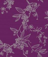 Flower Designed Wall Paper