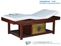 Semi Electric Wood Massage Bed With Goldleaf Decoration
