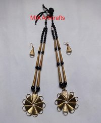 Brass Pendants Necklace Set