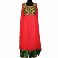 Red Anarkali Suit