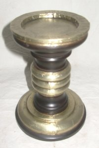 White Metal Candle Holder