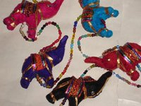 Glass Beads Elephant Hanging