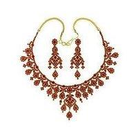 Karat Gold Ruby Necklace Set