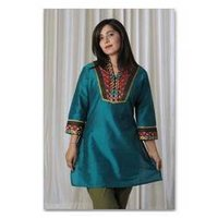 Designer Green Short Kurta