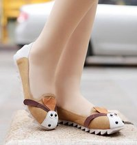 Lovely Cartoon Soft Bottom Single Shoes CZ-0552 Yellow