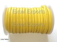 Yellow Stitched Lambskin Leather 5mm