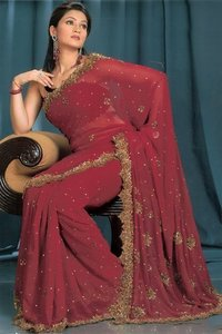 Cut Work Saree